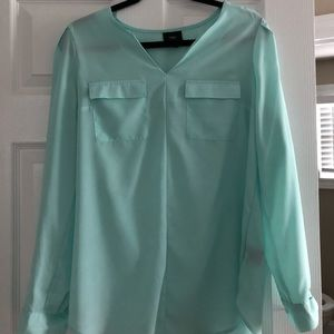 Mossimo mint green blouse